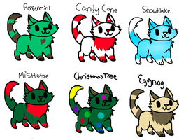 Christmas Adoptables! -CLOSED- by x-Spottypath-x