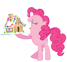 Pinkie Pie and Her Gingerbread house by Liamb135