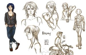 Sketch Page Kasey Armstrong by BlackBirdInk