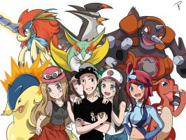 Jamie and his pokemon team by xXKyokoKittycatXx