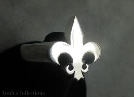 Fleur De Lis Ring by anubiscollections