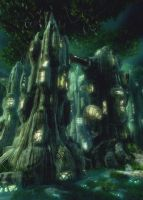 The tree roosts human's tribe by weiweihua