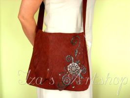 Leather messenger bag by izasartshop