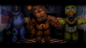 Old Gang ( Five Nights At Freddy's 2 Wallpaper) by BloodyHorrible