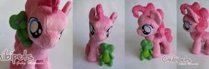 Pinkie Pie and pal V3 Custom Plush by Chibi-pets