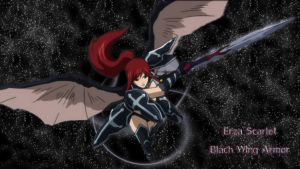 Erza Scarlet Black Wing Armor (Wallpaper) by ng9