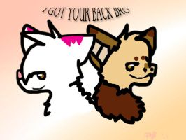 I got your back bro by Jayfeather4life