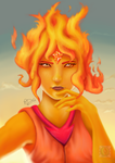 Fire Princess (Old Painting from 2016) by Reillyington86
