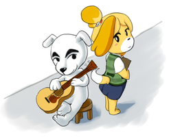 Animal Crossing New Leaf - KK and Isabelle OTP OTP by Sanoshi