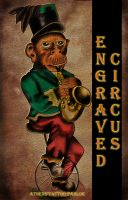 the engraved circus monkey .. by loop1974