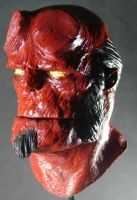 Painted Hellboy by MosesJaen
