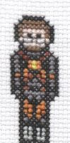 Gordon Freeman cross stitch by Lil-Samuu
