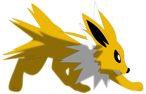 My first vector of Jolteon. Version 2. by Flutterflyraptor