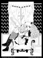 Anime Lolita Line Art by MaryBellamy