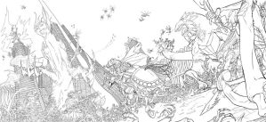 Nest of the Ancestors lineart by Solblight