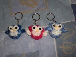 Owl keychain - Commission by AngelLale87