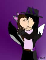 Art Trade: Fiancees Reunite Kiss by HinataFox790