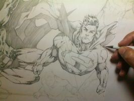Sketch_ Justice League by MARCIOABREU7