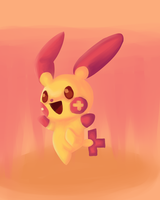 Plusle by SpillingMidnight