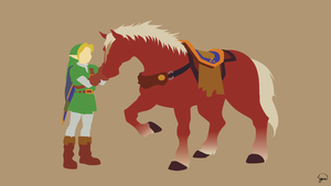 Link/Epona (The Legend of Zelda) Minimalism by greenmapple17