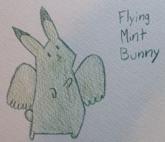 Flying Mint Bunny by TheHunter56