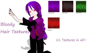 MMD Bloody Hair Textures by RenaKerensky