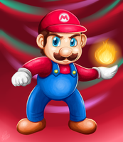 Mario digital painting by Sweetochii