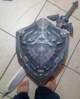 Legend of Zelda life sized logo by skinny-artist