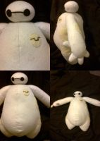 Baymax plush by Hallow-Quinn