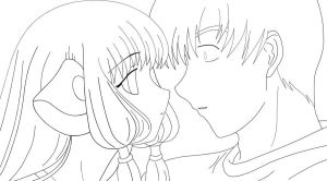 Chobits Lineart by Peaches5189