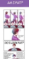 Spamano: Am I Fat by natersal