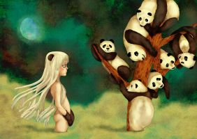 panda tree by moonywolf
