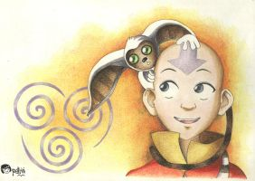 Avatar Aang by muttipetra