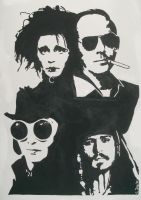 The Many Faces Of Johnny Depp by DickTracy666