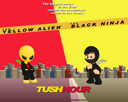 Tush Hour: Wallpaper by jellybeansoup