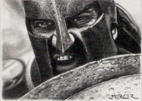 King Leonidas 300 sketch card by jenchuan