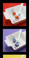 Flower Cupcake Earrings by TwineBirds