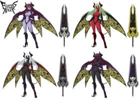 Hell Princess Color concepts by Oniika