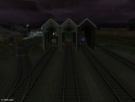 Peaceful Night at Tidmouth's Branch Sheds by BramGroatonDA
