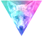 Triangle decor - Galaxy fox by Martith