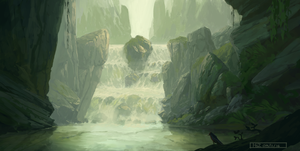 Waterfall by HazPainting