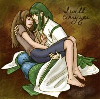 Haku,Chihiro: I Will Carry You by purplerebecca