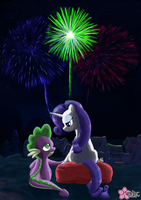 Interrupted by Fireworks by CloudDG