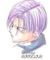 mirai trunks head by kotenka1984