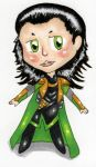 Art Trade: Chibi Loki! by BowiesHorcrux
