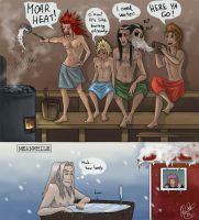 Sauna Evening with the guys by Rosaka-Chan