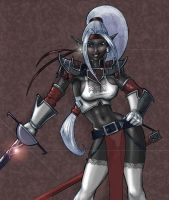 Drow Bard by largominus2004