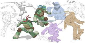 Tmnt Warmup Doodles by ifesinachi
