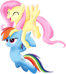 Fluttershy and Rainbow Dash by shtopor7