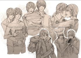 Yaoi Commission: Light Yagami (sketch) by Yaoi-World
